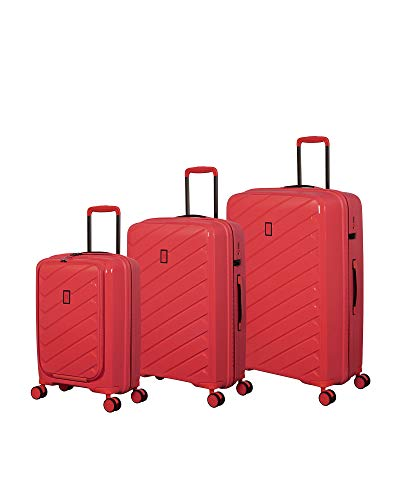 Great Price! it luggage Influential Hardside Spinner, Coral Punch, 3-Piece Set (22/26/29)