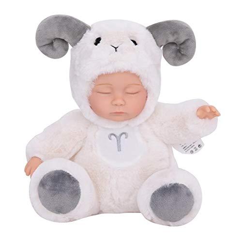 perfeclan Hot Cute Plush Sleeping Baby Dolls Juguetes Blandos Dormir Bebé Acompañar Juguetes Regalos (Ovejas)