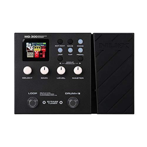 perfeclan Procesador de guitarra eléctrica Pedal multiefecto Amp modelado 56 tambor 60s Looper para guitarristas