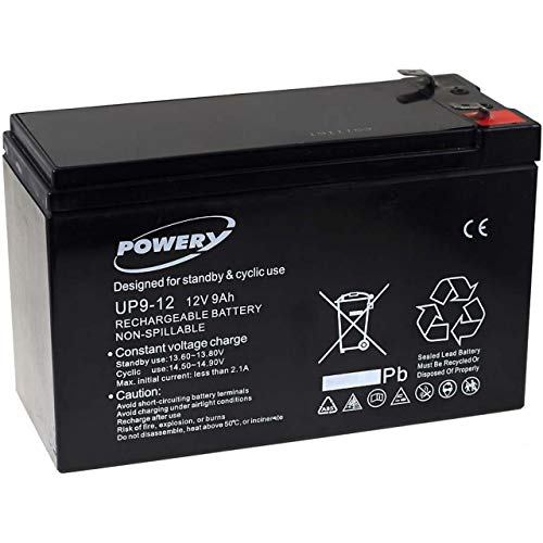 Powery Batería de Gel UP9-12 12V 9Ah