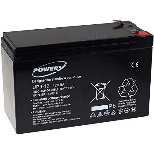 Powery Batería de GEL para SAI APC RBC2 9Ah 12V