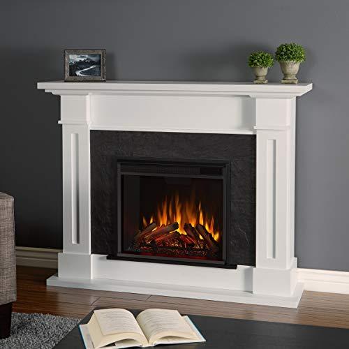 Real Flame 6030E-W 6030E Kipling Electric Fireplace, Medium, White