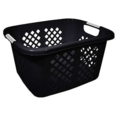 HMS 2253-75 Home Logic 1.5 Bushel Black Laundry Basket