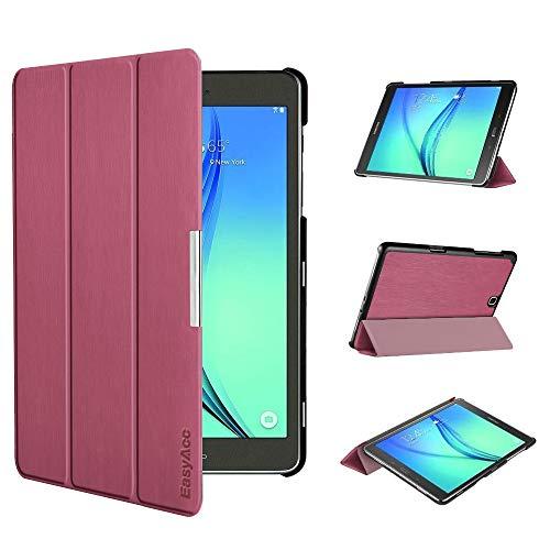 EasyAcc Ultra Slim Hülle für Samsung Galaxy Tab A 9.7 - mit Standfunktion & Automatischem Schlaf Funktion PU Leder Hülle - Zwetschgen Purpur