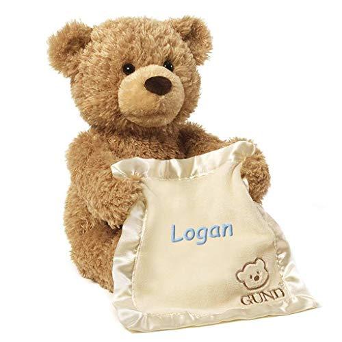 Personalized Peek A Boo Plush Toy (Brown Peek A Boo Bear)