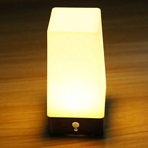 Lionina Luz nocturna LED con sensor de movimiento PIR, funciona con pilas, lámpara de mesita de noche LED para habitación infantil, con 3 modos para dormitorio, habitación de los niños, baño