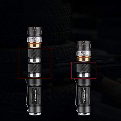 JETBeam RRT03 LED linterna de acero inoxidable tubo de extensión de la linterna accesorios