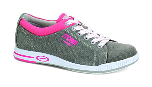 Storm Meadow Bowling Shoes, Grey/Pink, 6.5