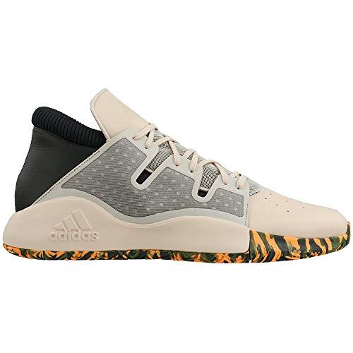 Adidas Men's Pro Vision Basketball Shoe, Linen/Legend Earth/Flash Orange, Numeric_20