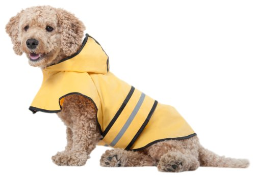 Fashion Pet Dog Raincoat For Medium Dog | Dog Rain Jacket With Hood | Dog Rain Poncho | 100%...