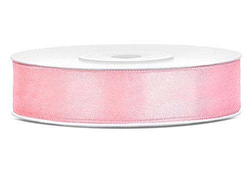 Like a Girl - wir lieben Hochzeiten 25m lang / 12mm breit Satinband Schleifenband Dekoband Satin Antennenschleifen (Rosa)