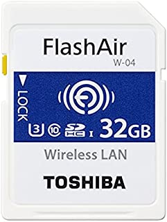 32GB TOSHIBA 東芝 無線LAN搭載SDHCカード 第4世代FlashAir W-04 UHS-1 U3 R:90MB/s W:70MB/s 海外リテール THN-NW04W0320A6