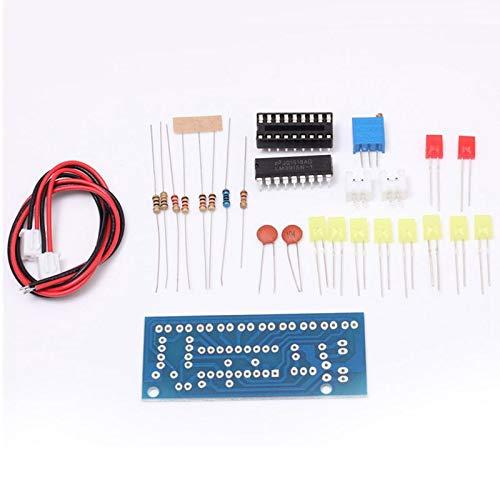 SODIAL LM3915 Indicatore di livello audio Kit DIY 10 LED Audio Analizzatore di spettro audio Kit indicatore di livello Set di saldatura elettronica