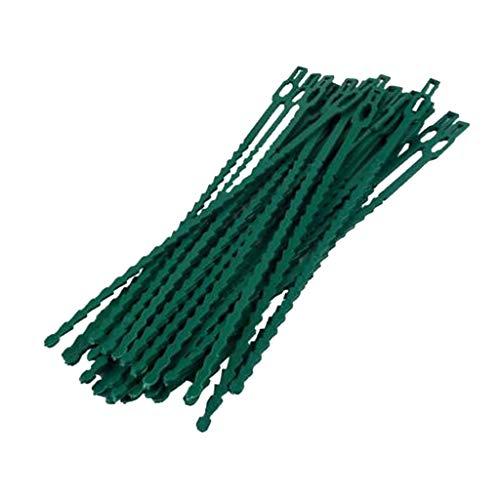 30Pcs Verstellbarer Gartenpflanze Twist Krawatten Flexible Plastic Twist Binder Kabelbinder Für Garten Pflanze Fastener Zurrmittel - 17cm 30St
