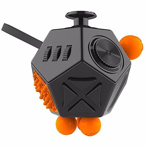 Fidget Cube II Angst Stress Relief Fokus 12 Seite Würfel Spielzeug VERY100 (schwarz)