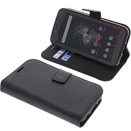 foto-kontor Tasche für Blackview BV5500 / BV5500 Pro Book Style schwarz Schutz Hülle Buch