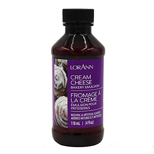 LorAnn Cream Cheese Bakery Emulsion, 4 ounce bottle