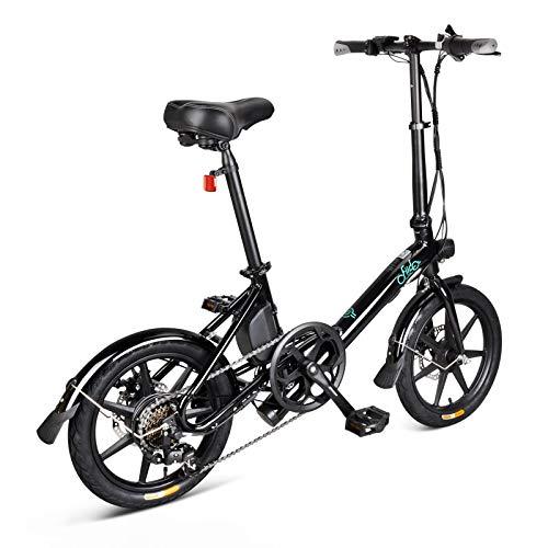 Topxingch - Bicicleta eléctrica para adultos, bicicleta plegable, bicicleta de pendular, ciclismo...