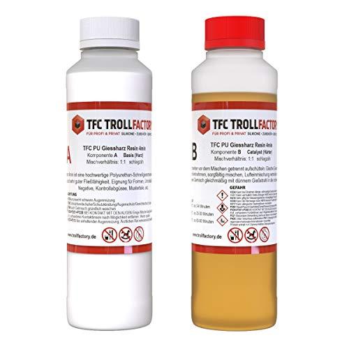 TFC PU Giessharz Resin 4 Min. I Zweikomponenten-Giessmasse, beige I dünnflüssig, 1 kg (2 x 500 g)