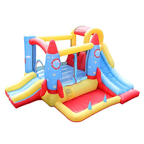 Aufblasbares Schloss Hüpfburgen Schlag Haus Großer Spielplatz Spielzeug Kinder Haus Aufblasbare Rutschen Meer Ball Pool Entertainment Center (Color : Red, Size : 280 * 340 * 185cm)