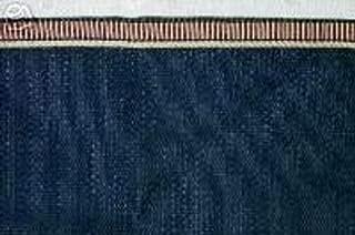 Longaberger Medium Gathering Basket Liner Proudly American Indigo Blue Color Fabric Drop In Style