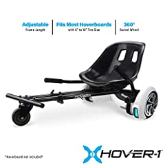 Explore the power of your Hoverboard. Compatible with most Hoverboards with 6 inch -10 inch tires. Adjustable frame length, Adjustable straps to securely attach buggy to Hoverboard. Hand-operation gives you full control of your riding experience. Ind...