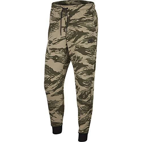 Nike Tech Camo - Pantalón (forro polar, talla M), color verde