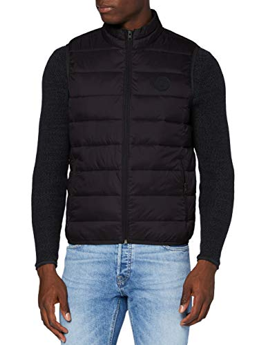 JACK & JONES Herren JJEMAGIC Bodywarmer Collar STS Weste, Black, XL