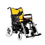 ZHANGYY Silla de Ruedas eléctrica Ligera Silla de Ruedas eléctrica Plegable Inteligente Potente Motor Doble Marco de Acero al Carbono para discapacitados Ancianos Movilidad