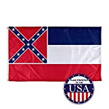 Vispronet - Mississippi State Flag - 3ft x 5ft Knitted Polyester, State Flag Collection, Made in The USA (Flag Only)