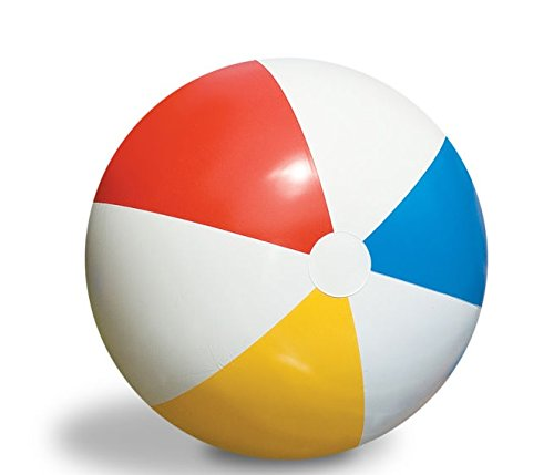 """Swim Central 30"""" Inflatable Vibrant Colored Water Sports Classic Beach Ball"""