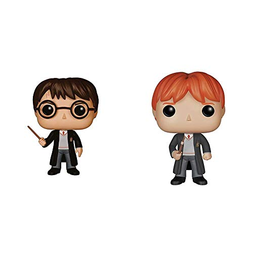 Funko POP Movies: Harry Potter Action Figure, Standard & Harry Potter Ron Weasley Action Figure, Standard, 3.75 inches image
