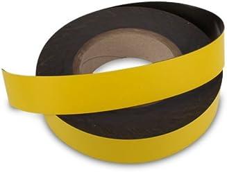 Magnet-shop bande didentification 1000/mm x 10/mm Largeur jaune NEUF