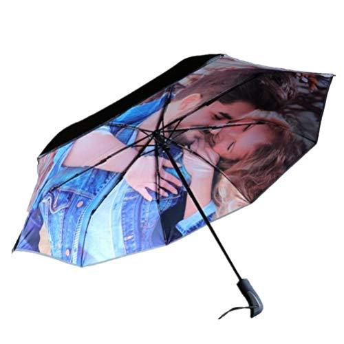 Individuelle Anpassung der Regenschirme Individuelle UV-Sonnenschirme Reisen Falten Leichtgewicht für Geschenk Familie Freunde Holloween Weihnachten(,Außen Bedruckt,Einheitsgröße)