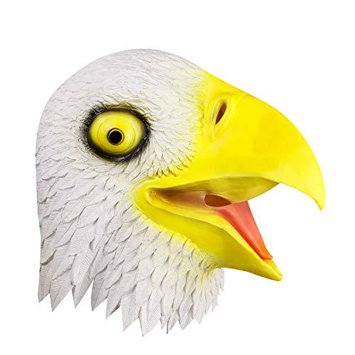 Látex Máscara cabeza de águila disfraces y decoración o Halloween Navidad cosplay Máscara águilaáscara animal.Molezu.