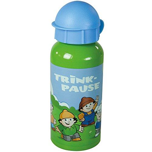 POS 23155 – Botella de aluminio con diseño de celdas principales, capacidad aprox. 400 ml, libre de BPA y ftalatos, para niños y niñas, viajes, en el jardín de infancia, en la escuela y en el deporte