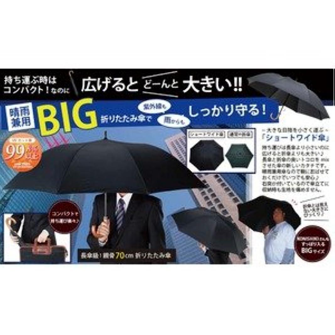 触覚ぞっとするようなチート晴雨兼用 BIG折りたたみ傘(ショートワイドタイプ)
