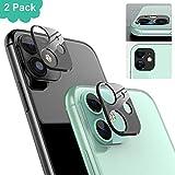 Ossky Protector de Lente de cámara para iPhone 11,Cámara Trasera Lente Protector Anti-Rasguños/Anti-Polvo[Compatible para Funda] Protector Cámara Trasera Case para iPhone 11-Negro/2 Pack