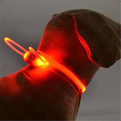 Eillybird Led-lichtgevende halsband, hond, hondenhalsband, grote honden, halsband, hond, waterbestendig, flashing licht, LED-pet, collar luminous, verstelbare pet veiligheidsschoenen, oranje