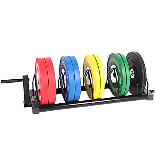 YYLL Lagerregale Barbell Storage Rack, Removable Barbell Rack Barbell Trolley, Lagerständer mit bequemem Griff, Sportausrüstung Lagerung (Color : Black)