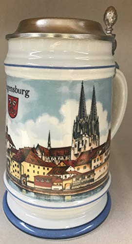 Burgherren-seidel Bier-Krug Bierseidel Regensburg 0,5 L Porzellan