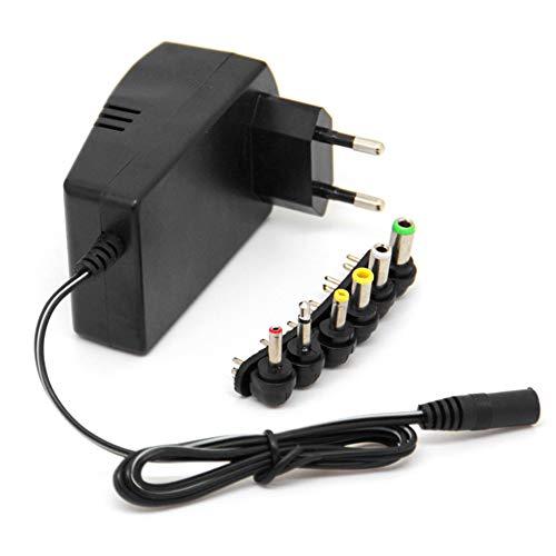 Semoic Adaptador de Voltaje MúLtiple 3VDC Adaptador de Corriente Ajustable Cargador Universal Cable Convertidor de Suministro 6 Enchufes Enchufe de la UE