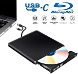 Tokenhigh Lettore Masterizzatore Dvd Blu Ray 3D, Blu Ray unità CD/Dvd Esterna, USB 3.0 Type C Esterno Portatile Ultra Sottile CD Dvd RW Lettore Disco per Laptop/Desktop MacBook, Win 7/8/10