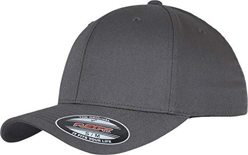 Flexfit Unisex Cap Unisex Kappe ohne Verschluss für Herren, Damen und Kinder Wooly Combed Baseball Cap, darkgrey/darkgrey, S/M (Herstellergröße: S/M)