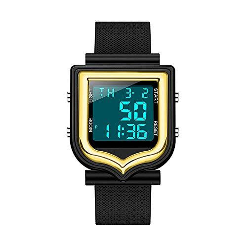 AZPINGPAN Reloj electrónico para Hombres y Mujeres, Reloj Luminoso Impermeable para Deportes al Aire Libre, Reloj Despertador/Calendario multifunción de Ocio de Moda Relojes de Movimiento electrónico