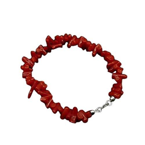 Bracciale di corallo rosso Sardegna in argento 925 braccialetto da donna