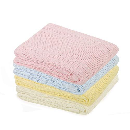 Junior Joy Pram Coton Cellulaire Blanket Crème
