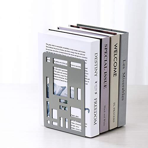 ブックエンド本立てブックスタンド仕切りスタンド金属製卓上本棚卓上収納ファイル/雑誌/新聞/CD/辞書/書類入り事務用品文房具おしゃれ多機能耐久便利(グレーG)