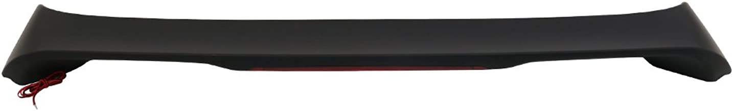Trunk Spoiler Compatible With 2002-2006 Toyota Camry   Factory Style ABS Unpainted Black With LED Brake Light Trunk Boot Lip Spoiler Wing Deck Lid By IKON MOTORSPORTS   2003 2004 2005
