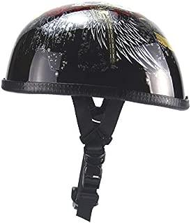 バイクヘルメット ハーフヘルメット 半帽ヘルメット 半キャップ ヘルメット (ブラック*翼)